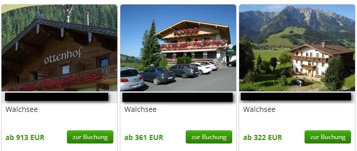 holiday-insider.de: Das Haus ist in diesem Ausschnitt links ist nicht richtig erkennbar, welcher Gast macht Urlaub am Parkplatz (Mitte), wunderschönes Hausbild mit Panorama (rechts). Wo würden Sie klicken?