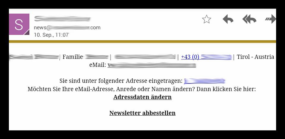 Newsletter Footer