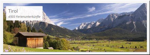 Villas.com zeigt 4.503 Unterkünfte für Tirol