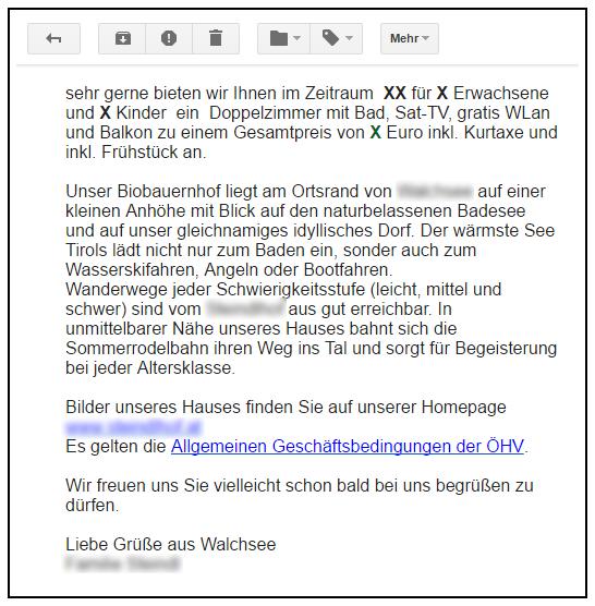 E-Mail-Angebot