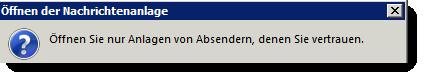 E-Mail Anhänge - nicht immer sicher