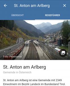 St. Anton am Arlberg in Google Reiseziele