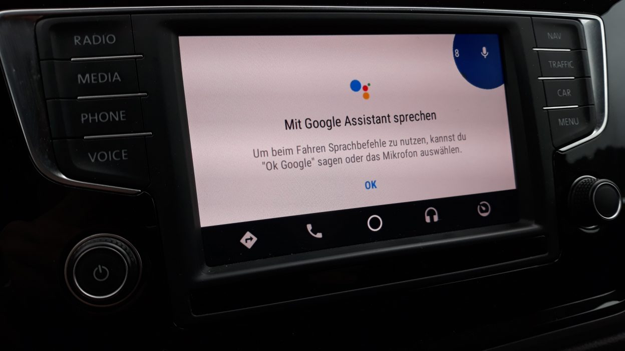 Android Auto mit Google Assistant
