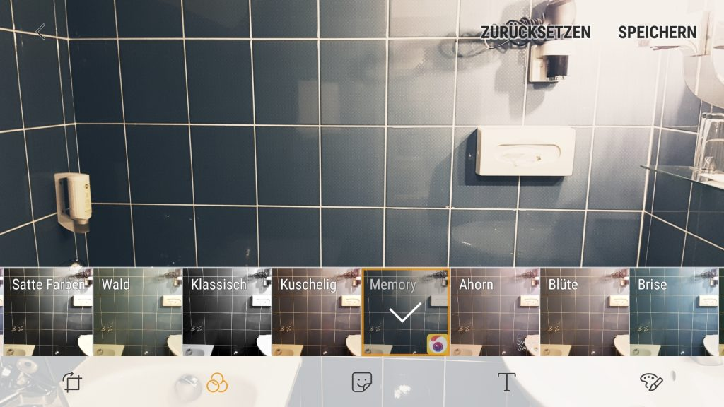 Bildbearbeitung am Smartphone mit eingebauten Filtern (Android/Samsung)