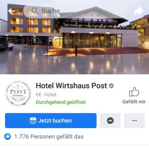 """""""Jetzt buchen""""-Button auf Facebook-Seite – in Wirklichkeit aber kaum genutzt"""