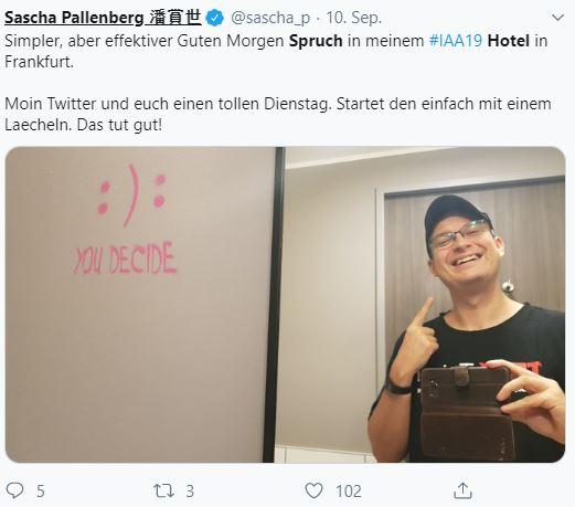 Spruch als Social Media Motiv im Hotel