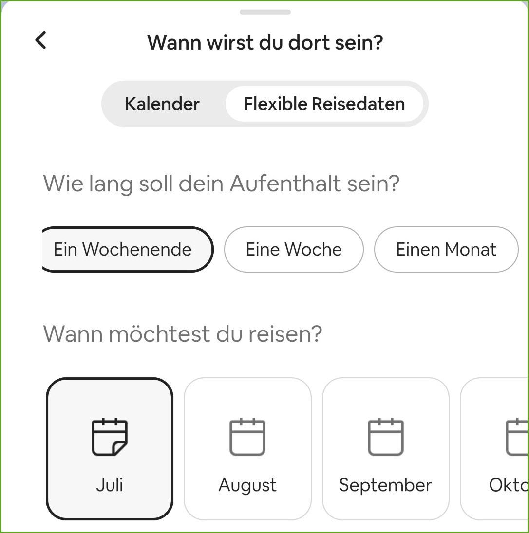 airbnb flexible datumssuche